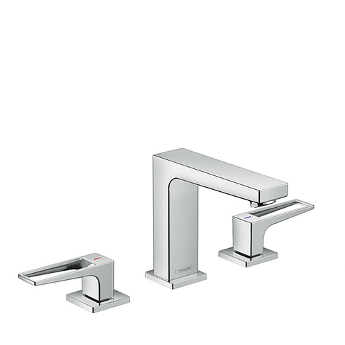 Metropol 3-Hole Basin Mixer 110 Loop Handle With Push Open Waste