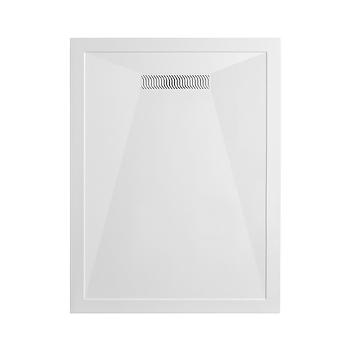 Rectangular 25mm Stone Resin Shower Tray with Linear Waste
