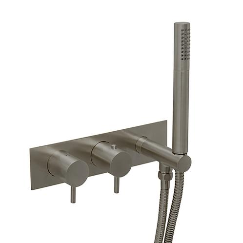 JTP VOS Thermostatic Concealed 2 Outlet Shower Valve, Handset