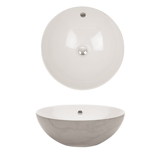 Castellon Carrara Marble/White PLUS Basin