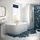 Thumbnail: Solid Blue Monreale Back To Wall Bath