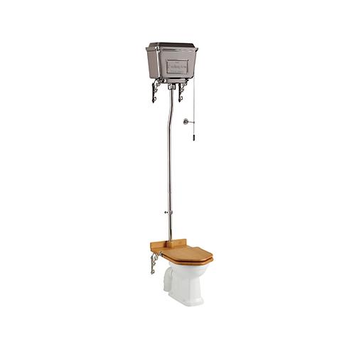 High Level WC With Dual Flush Chrome Cistern