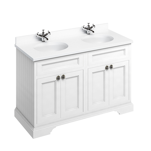 Freestanding 130 Unit with White Worktop