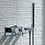 Thumbnail: JTP Florence Thermostatic Concealed 2 Outlet Shower Valve with Attached Handset
