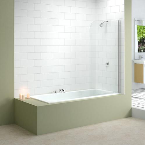 Single Curved Bath Screen