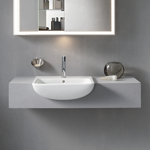 Me By Starck Semi-Recessed Washbasin