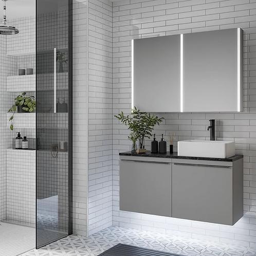 Xenon LED Mirror Cabinet