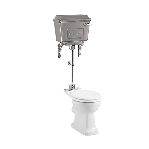 Rimless Medium Level WC With 520 Lever Chrome Cistern