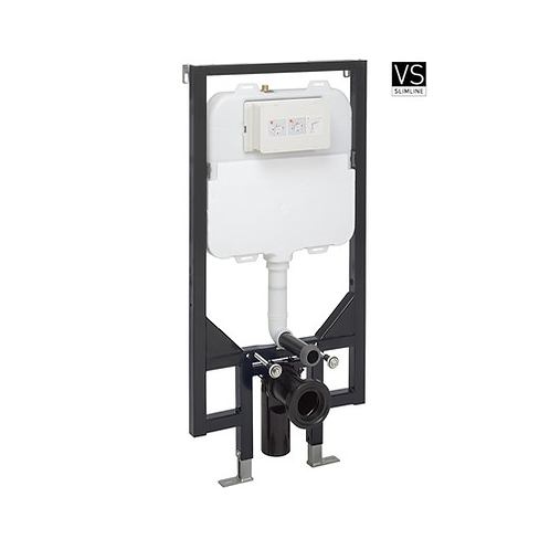Slim 1.14m Wall Hung Toilet Support Frame