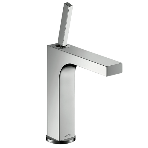 Axor Citterio Single lever basin mixer 160 with pin handle and pop-up waste set