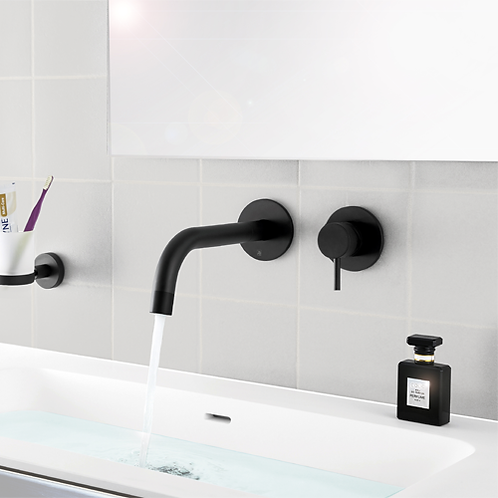 JTP VOS Single Lever Wall Mounted Basin Mixer with Spout 250mm
