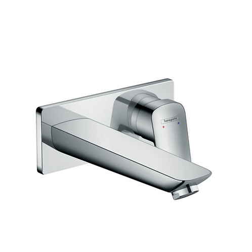 Logis Wall mounted basin mixer with 195mm spout