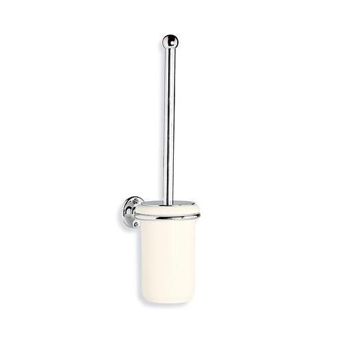 Wall Mounted Toilet Brush & White Ceramic Holder
