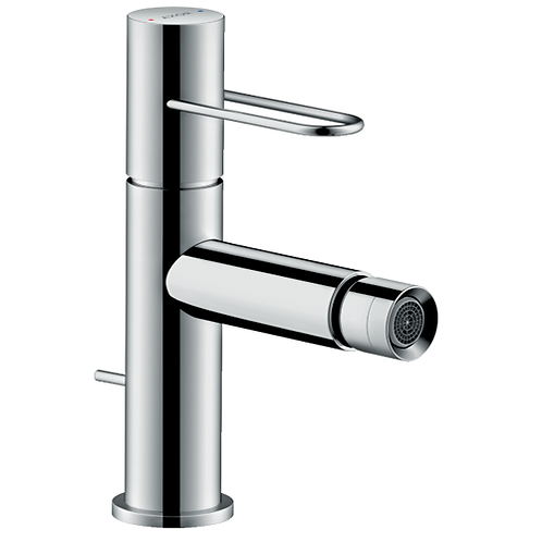Axor Uno Single lever bidet mixer with loop handle and pop-up waste set