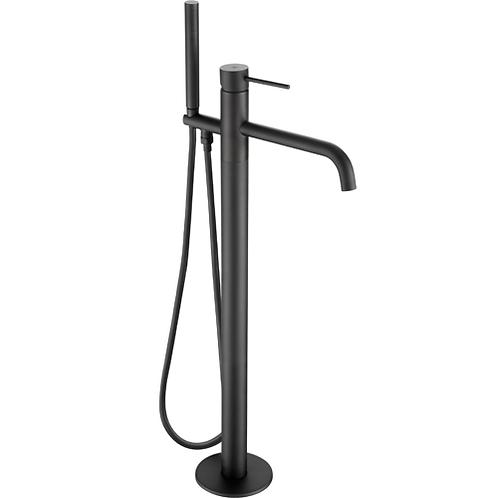 JTP VOS Knurled Floor Standing Bath Shower Mixer with Kit