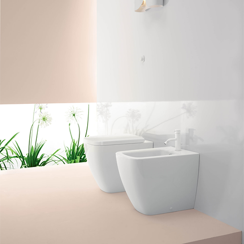 GS9062 Sand 55 Back To Wall Bidet