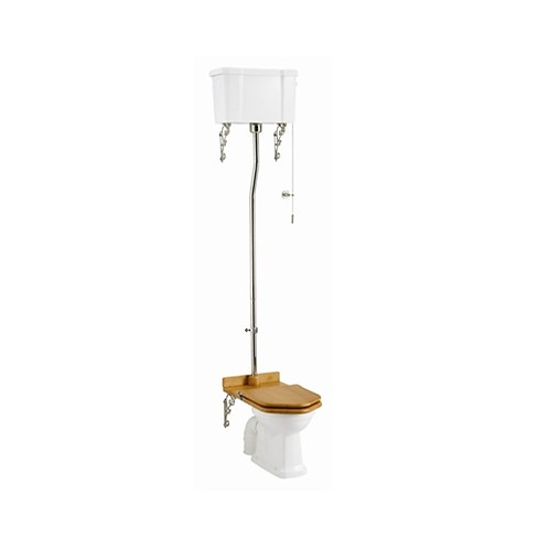 High Level WC With Dual Flush Cistern