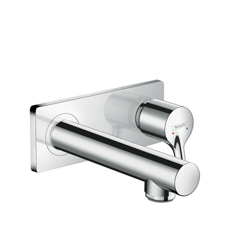 Hansgrohe Talis S Wall mounted basin mixer with 165mm spout