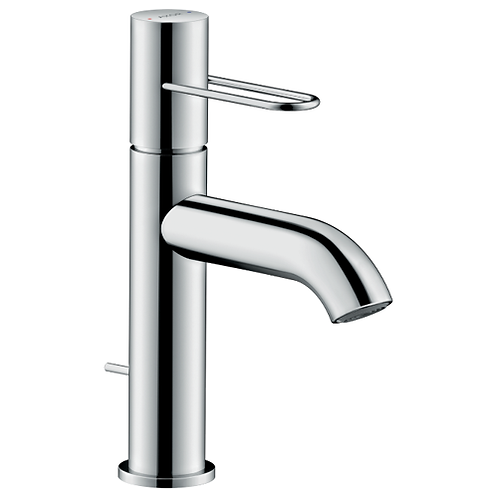 Axor Uno Single lever basin mixer 100 with loop handle and pop-up waste