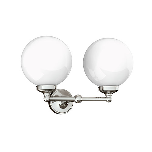 """Lefroy Brooks Classic Double 6"""" Globe Wall Lamp"""