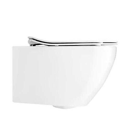 Svelte White Wall Hung Toilet