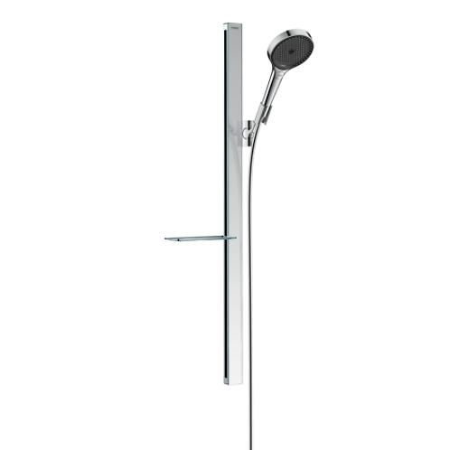 Rainfinity Shower set 130 3jet with shower bar 90 cm and shelf