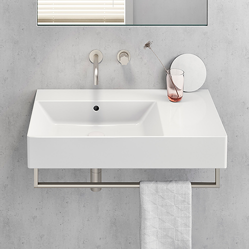 Kube X 80x47 RH Ledge Washbasin