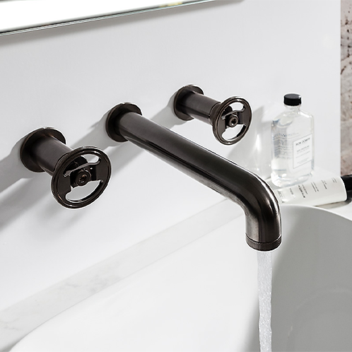 Union 3 Hole Wall Mounted Basin Mixer