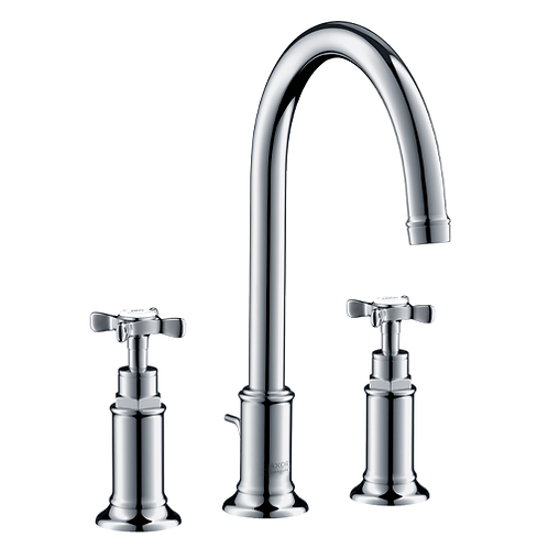 Axor Montreux 3-hole basin mixer 180 with cross handles