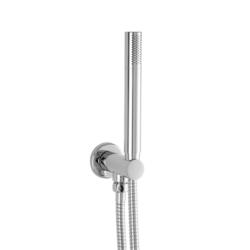 JTP Water Outlet and Holder with Metal Hose and Slim Handshower