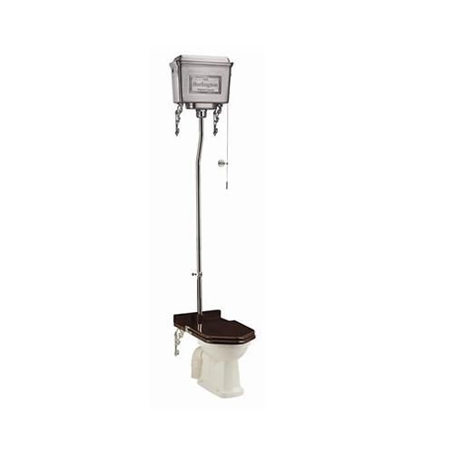 Burlington High Level WC With Dual Flush Aluminium Cistern