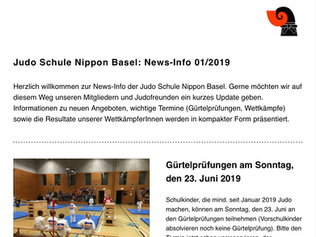 Der Newsletter 01/2019 ist online!