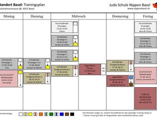 Der neue Trainingsplan ist online