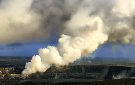 Gas plume at Halema'uma'u Crater