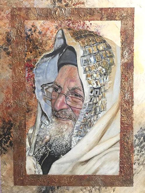 Rav Elyahou en talith
