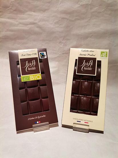 Tablettes Chocolats Bio Ile de Ré