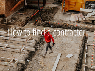 How to find a contractor