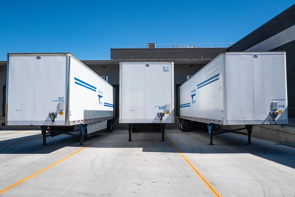Đội xe giao hàng của công ty 3PL
