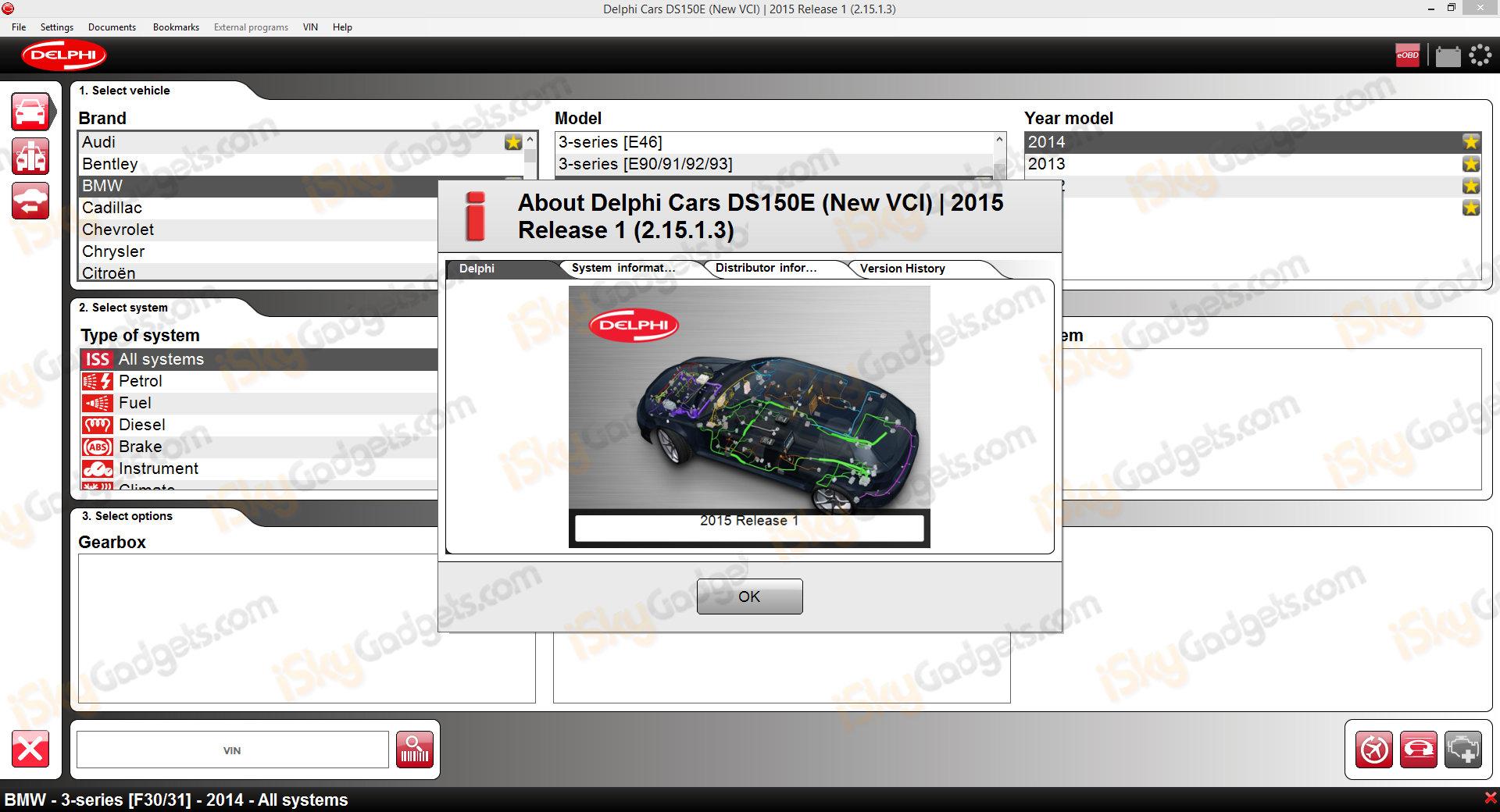 DS150e 2015 1 3 Car Truck BT Diagnostic Tool