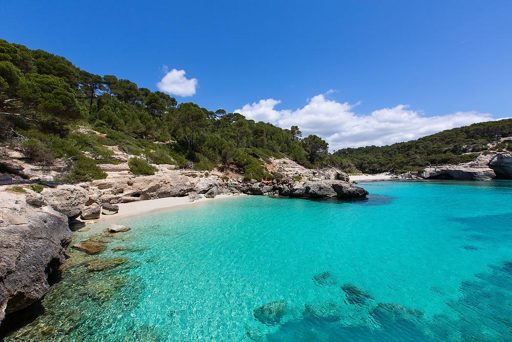 beach, sea, island, ibiza, menorca, paradise, travel, traveler, sunglasses, fashion, style, asseneyewear, drone, pines, nature, sky, turquiose, blue