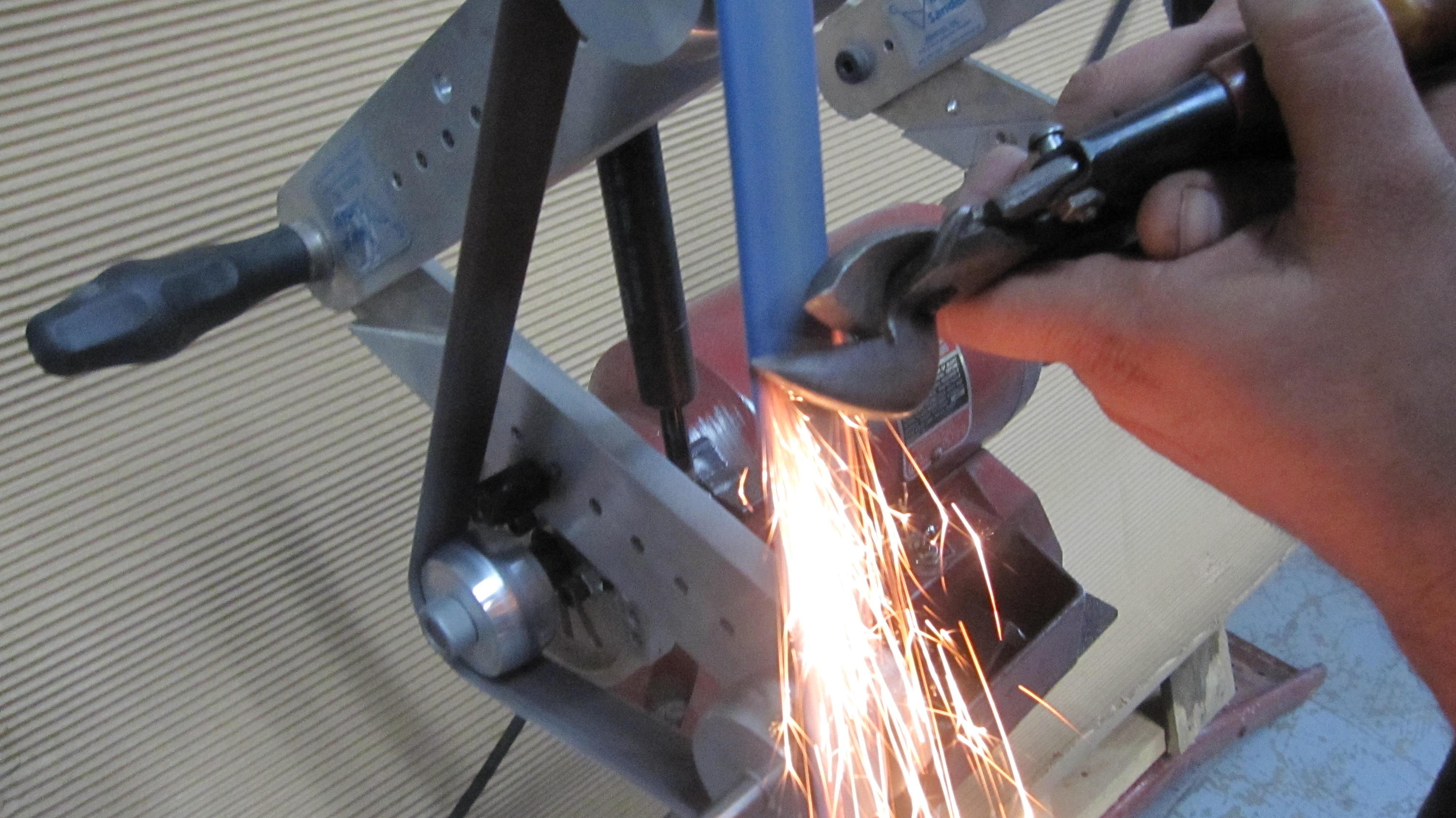 Belt sander,  sharpening tool