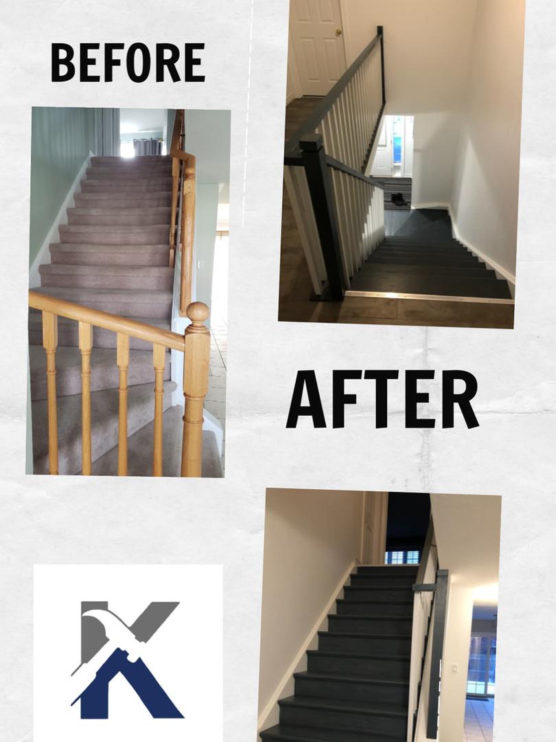 Custom Stair & Banister Railing System.j