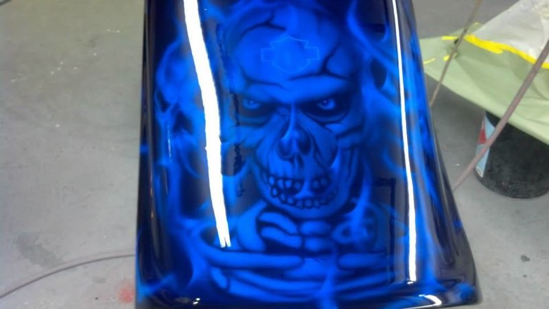 HD airbrushed skulls