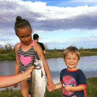 Youth Campers with their catch