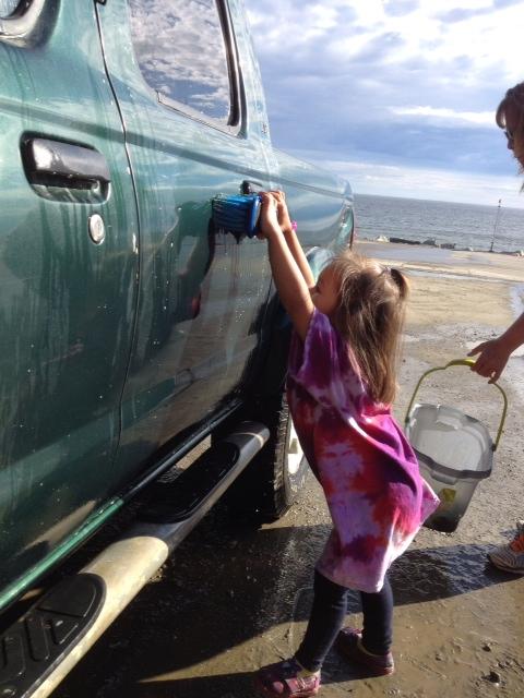 Rosalyn at car wash