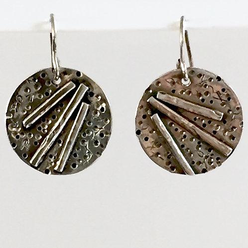 """""""Little Rays"""" Earrings in sterling silver"""