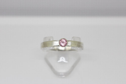 Baby Pink Spinel & Sterling Silver Stacker