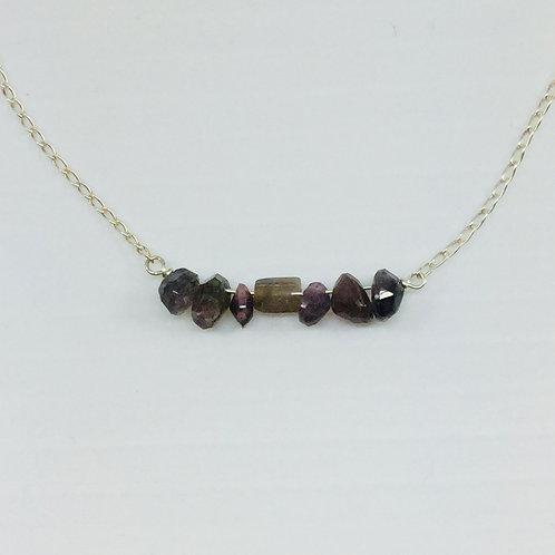 Purple Tourmaline Necklace
