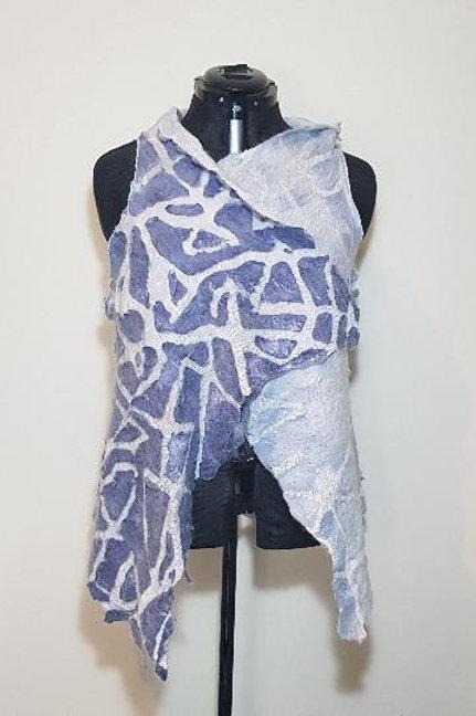 Vest Muslin Cracked Blue