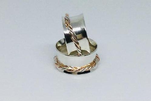 Spinner Ring Silver & Gold Vermeil